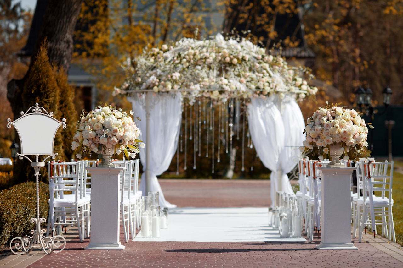 Wedding arch in the garden
